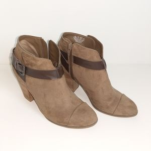Carlos Santana Taupe Suede Boots, Size 9.5